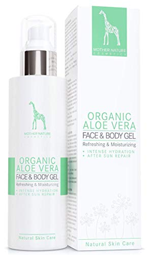 BIO-Aloe Vera Gel mit 95% reinem Aloe Vera Saft – VEGAN - 200 ml made in Austria by Mother Nature...