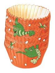 Kaiser Bakeware Patisserie Dinosaurier Papier-Backförmchen, groß