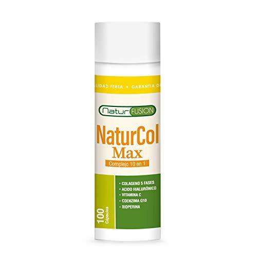 Colágeno 5 en 1 [1750MG/DOSIS] con Ácido Hialurónico, Coenzima Q10 y Vitamina C | Ideal para Piel, Articulaciones y Huesos | Dosis de Colágeno 100% Pura y Natural | 100 Cápsulas.
