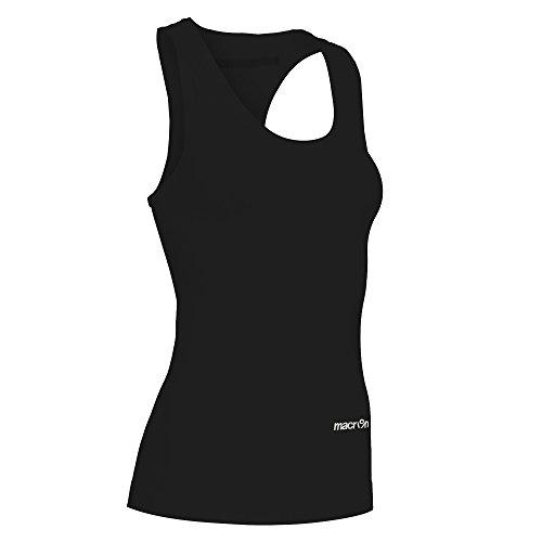 Macron via Sportkluft Performance++ T-shirt sans manches pour femme Technical Underwear PRO - Couleur : noir, taille S