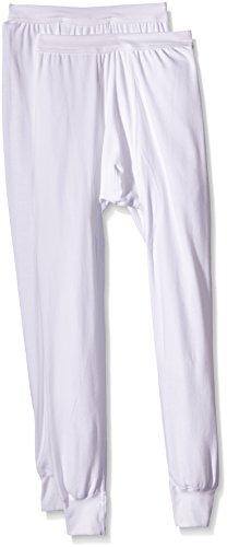 Trigema Herren Lange Unterhose Doppelpack Bas Thermique, Blanc-Blanc (001), XX-Large (Lot de 2) Homme