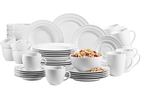MÄSER 992988 - Vajilla para 6 personas (42 piezas, porcelana)