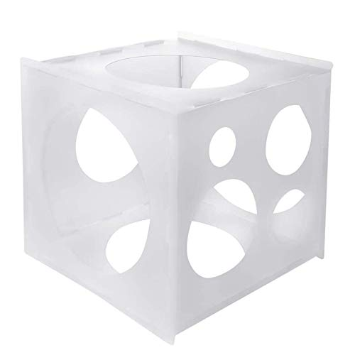 Worown 11 Agujeros Plegable Globo De Plástico Caja De Medidor De Cubo, Globo Tamaño Herramienta De Medición para Globos Decoraciones, Arcos De Globos, Globos Columnas