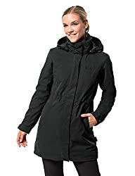 Jack Wolfskin Damen 3-in-1 Mantel Ottawa Coat, Schwarz (black), L