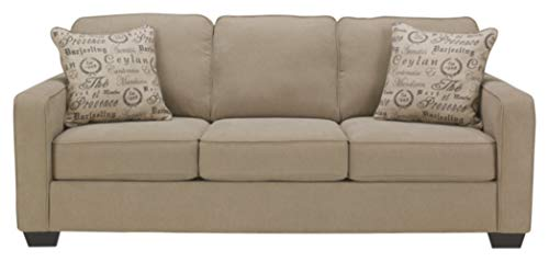 Signature Design by Ashley - Alenya Queen Size Sleeper Sofa w/ 2 Throw Pillows, Quartz