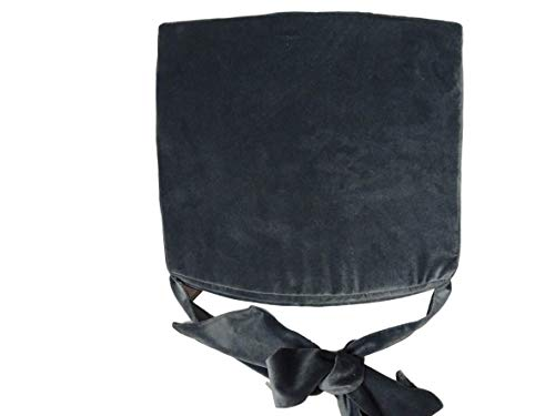 Schleife mit Kissen Hochwertiges Baumwolle Korbweide stuhlkissen/Gartenstuhl Kissen Sitzkissen 44 x 40 x 5 cm (Grafit)