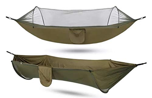 Gastonia Camping Hammock with Mosquito Bug Net Tent & Tree Straps with Carabiners - Lightweight Portable Single Double Sleep Set for Hiking, Backpacking, Travel, Complete with Stow Away Pocket