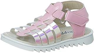 Skippy Velcro Closure Open Toe Sandals for Girls - Pink, 21 EU