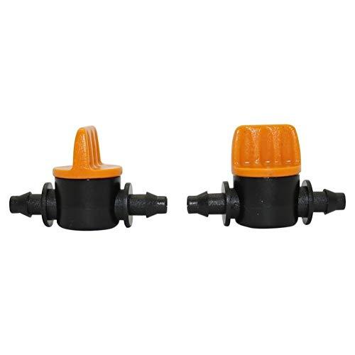 NLJYSH Durable 5 PC 4/7 mm Miniatura Interruptor Válvulas Homebrew Jardín de riego de válvulas Conectores de Agua Jardín de púas Acoplamiento ranurado Manguera de Agua Simple y Generoso