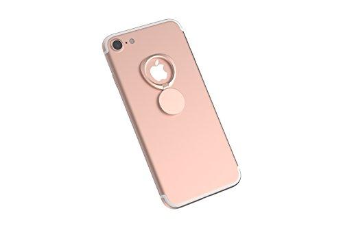 Kronya® | Portaobjetos Giratorio 360 ° para Smartphone | Sostenedor Aptitud Dedo Coche Celular Anillo Soporte teléfono móvil Apple iPhone iPad 7 8 10 X Samsung Galaxy S8 2 (Oro Rosa)