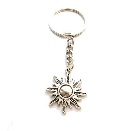 Llavero para sol, llavero inicial, llavero para sol, eres mi sol, llavero celestial, llavero BFF, regalo de cumpleaños de amigo, amuleto para el sol, mi sol, Plata #1, L