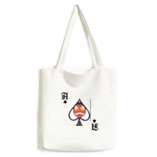 Traditionelle japanische Gespenst-Maske, Handtasche, Pokerspaten, waschbare Tasche