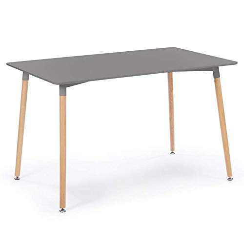 Table design scandinave 6 personnes