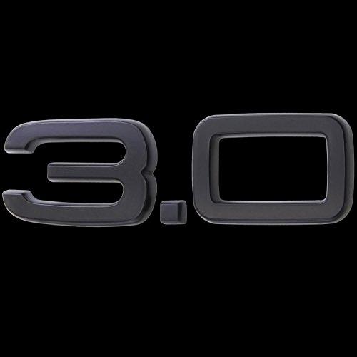 3D matt schwarz Emblem Aufkleber Logo 3.0 3,0 Liter Hubraum Tuning Sport L131