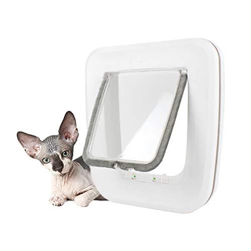 YUEBAOBEI Katzenklappe Hundeklappe/4 Wege Magnet-Verschluss Haustierklappe,Mit 4-Wege-Magnet-Schließ Für Katzen Und Kleine Hunde,Hundetür Katzentür 24 * 25Cm