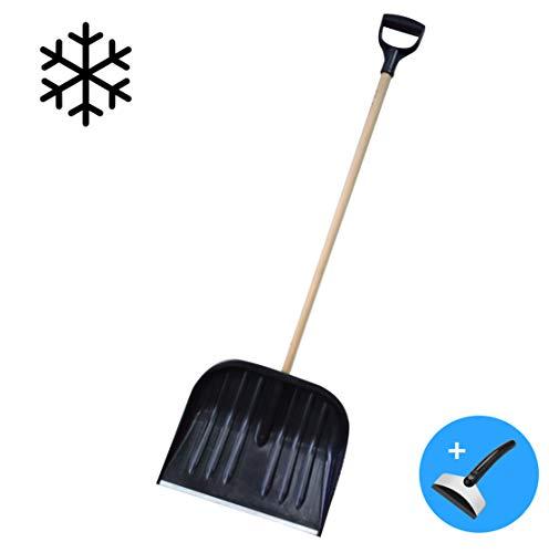 Schneebesen Schneeräumer Schneeschaufel Schneehexe Schneeschieber Schaufel Schieber Holz/Aluminium Klinge für Winterdienst Schnee