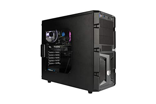 DeepGaming Axion - Ordenador gaming de sobremesa (Intel Core i5-9400, 8GB RAM, 480GB SSD, Nvidia GTX 1050 2gb ddr5, Sin Sistema Operativo) Color Negro
