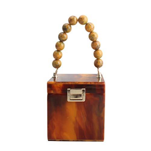 EWAT Bolso de fiesta de acrílico para mujer, con forma de caja de regalo, para bodas, fiestas, bodas, fiestas, banquetes, etc