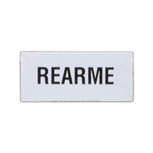 Etiqueta para portaetiquetas LM2TAE226 grabada señalización de'Rearme', 12 x 0,1 x 16 centímetros, color gris (Referencia: LM2TAE226)