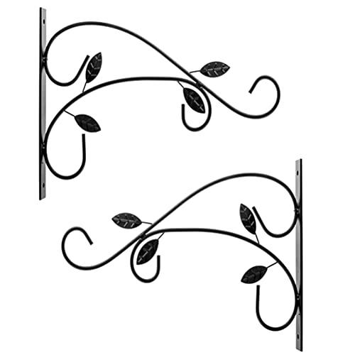 WWJJLL 2 stücke Wandbehangkorb, hängende Korbhalterungen Pflanzenhaken für Gartenkorb Laterne Rasenlicht Blume Töpfe für Gartendekoration