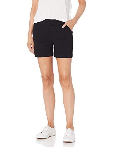 "Jag Jeans Women's Gracie Pull On 5"" Short, Black, 6"