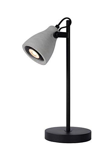 Lucide 05610/05/30 Lampe de Bureau, Métal, GU10, 5 W, Noir, Gris