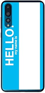 SECOND SKIN Hello my name is シアン (クリア)/for HUAWEI P20 Pro HW-01K/docomo DHW01K-PCCL-201-Y298