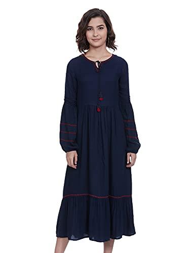 AND Women's Rayon A-Line Knee-Length Dress