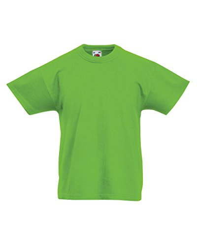 Fruit of the Loom Niños camiseta original - 21 Colores / Edad 3-15 - Lime - 1213