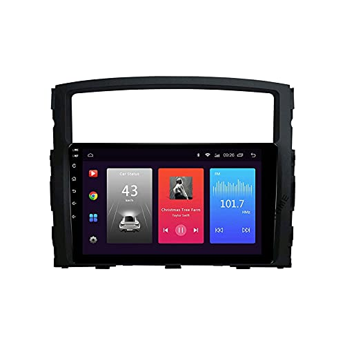 WYZXR GPS Touchscreen Car Audio Stereo GPS Navigation Radio Receiver Multimedia Player with Bluetooth Park Assist Mirror Link for Mitsubishi Pajero 2006-2012 Head Unit,8 Core 4G+WiFi: 2+32GB