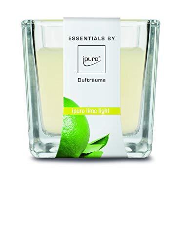 ipuro ESSENTIALS Duftkerze lime light, 1er Pack (1 x 170 g)