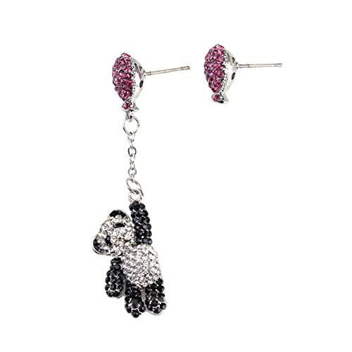 Ballon panda oorbellen dames mode roze transparante strass meisje trend oorbellen sieraden