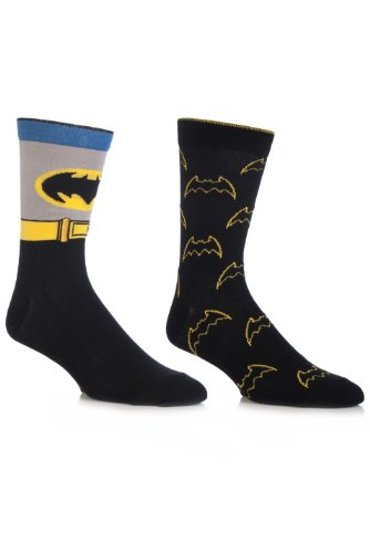 Herren 2 Paar SockShop DC Comics Batman Mix Socken Gemischt 6-11