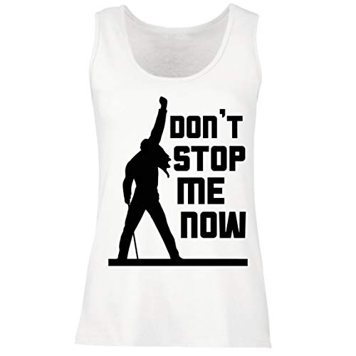 Women's Dont Stop Me Now Freddie Tribute Tank Top, 4 Colours, S to XXL
