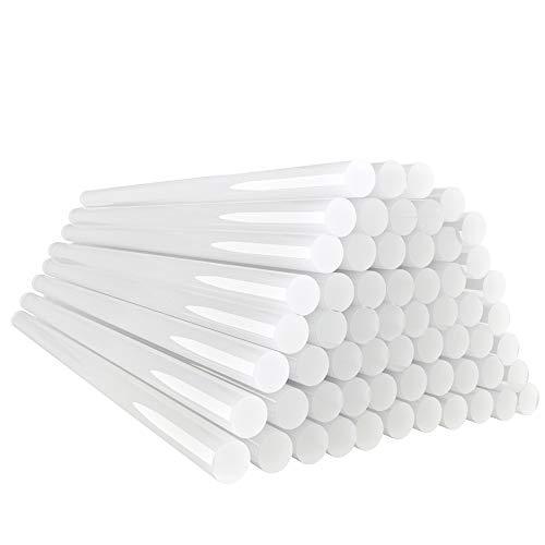 E·Durable Barras de Pegamento Caliente 60PCS 7X200mm Palos de Pegamento Transparente para...