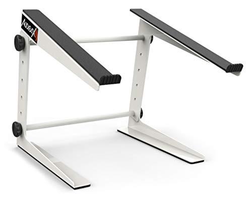 Audibax Soporte Portátil | TOP-5W MH-001 PRO Blanco | Laptop para DJ Stand | Elevador para Monitor | Soporte Ordenador Portátil para Mesa DJ | Altura Ajustable | Máxima Flexibilidad, 10094801