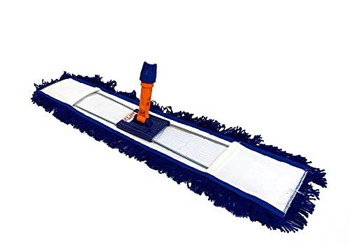 Clim Profesional - Mopa plana industrial acrílica de 80 cms con bastidor. Mopa acrílica antiestática especial para limpiar el polvo
