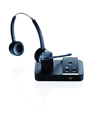 Jabra Pro 9450 Duo Dual Speaker Wireless Headset Bundle with Renewed Headsets Stress Ball (Renewed)