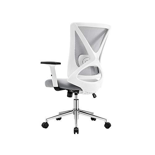 HOLPPO-Desk Silla Silla de oficina apoyabrazos ajustable y soporte lumbar ergonómico en forma de X Diseño silla de la computadora del acoplamiento for sillas de escritorio Estudio de Ministerio del ju