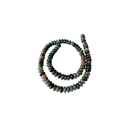 SUPVOX cuentas de ágata ágata india piedras preciosas cuentas sueltas naturales cristal redondo energía piedra espaciador cuentas abalorios conjunto de joyas para hacer pulsera diy