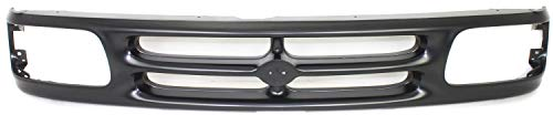 Grille Assembly Compatible with 1994-1997 Mazda B4000 Painted Black Shell and Insert Base/SE Models