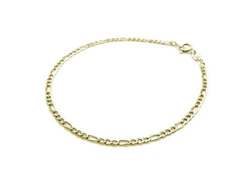Pulsera de oro amarillo de 18 quilates de 20 cm de largo