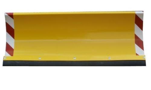 Schneepflug Räumschild Universal Schneeschild für Einachser und Rasentraktor mit Reflektoren Gelb / 125 x 40 cm / 3 Stufen verstellbar