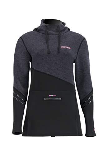 Prolimit Womens Pure Girl Neopren Neoprenanzug Hoody Hoodie Pullover - Schwarz Pink