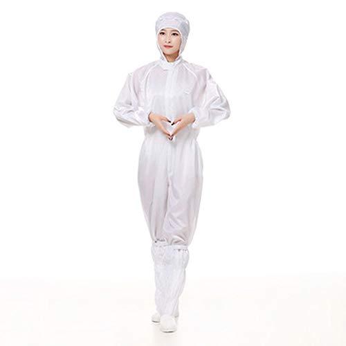 Wegwerpoveralls Universele beschermende kleding Stofvrij pak Comfortabele werkkleding Antistatisch Eendelig,XXL