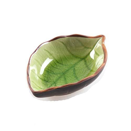 Teller / Vorspeisen Teller 6 Satz-Farben-keramische Pflaume Blumenmuster Sauce Teller Teller Serving Saucers Schüssel for Sushi Vorspeise Snack Japanese Style Geschirr Set Schüssel-Sets ( Color : B )