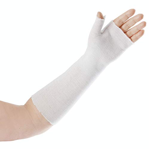 Rolyan - 58817 Thumb Spica Stockinette, Stockinette Tubing, Cotton Stockinette for Pre-Wrap Use, Cotton Wrist Sleeve for Skin Protection Under Splints, Splint Fabrication Liner, Pack of 10, Size Large