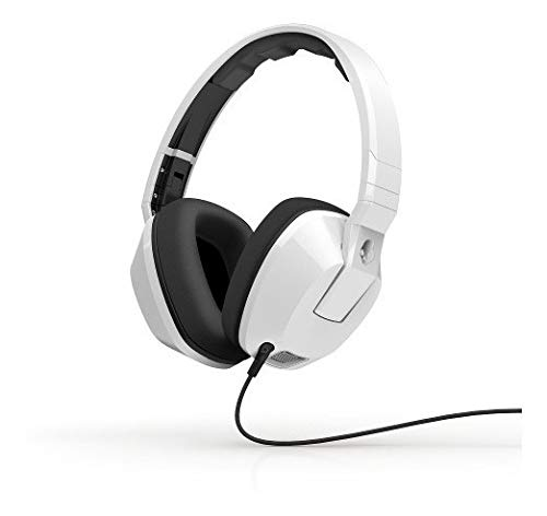 Skullcandy Crusher Headphones with Built-in Amplifier and Mic, White