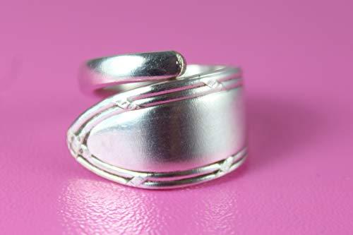 Besteck Schmuck Ring, ca. 58 (18,5) Ring aus Besteck