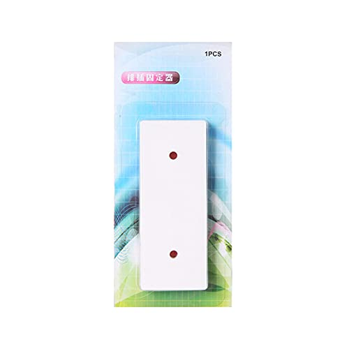 MANYOO Soporte de regleta eléctrica potente montado en la pared sin punzones, blanco